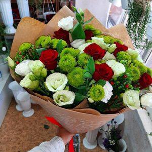 розы, эустомы и хризантемы в Херсоне фото