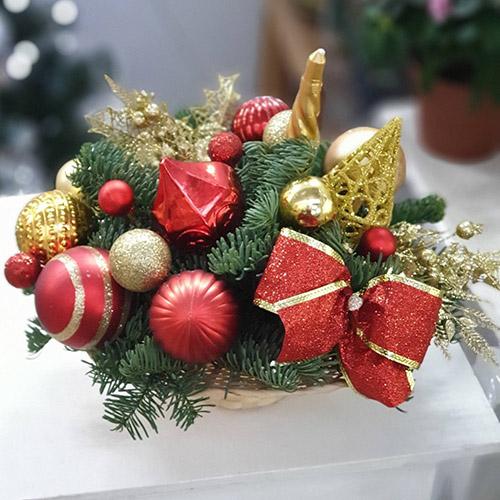 доставка подарков на Новый год фото букета