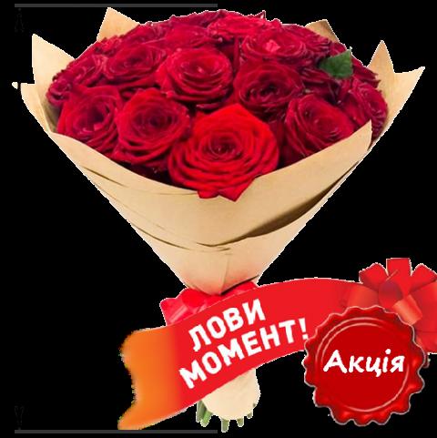 25 красных роз (50 см)